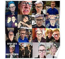 Tyler Oakley collage Poster