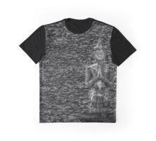 Temple Statue Monochrome Graphic T-Shirt
