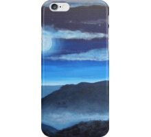 Misty Moonlit Mountains iPhone Case/Skin