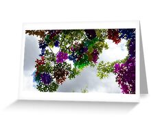 Colour Stained Sky View Greeting Card