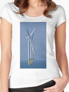 Walney Wind Farm Women's Fitted Scoop T-Shirt