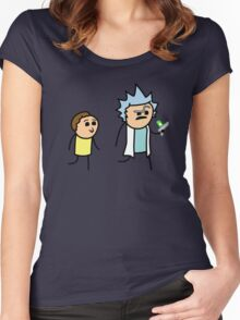RICK AND MORTY CYANIDE style Women's Fitted Scoop T-Shirt