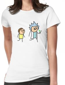 RICK AND MORTY CYANIDE style Womens Fitted T-Shirt