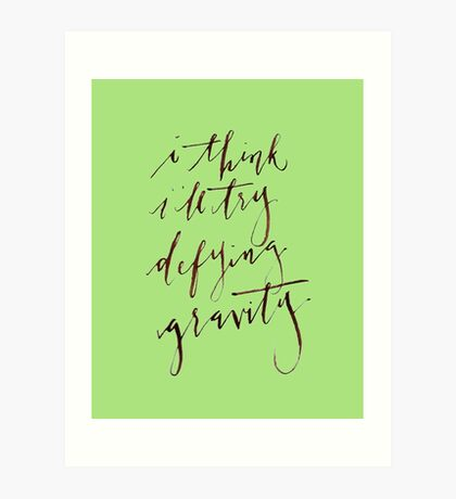 Defying Gravity Art Print