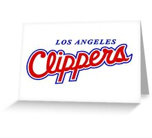LOS ANGELES CLIPPERS OLD LOGO Greeting Card