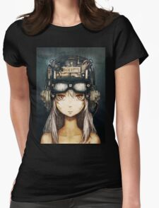 Steampunk Anime Girl Womens Fitted T-Shirt