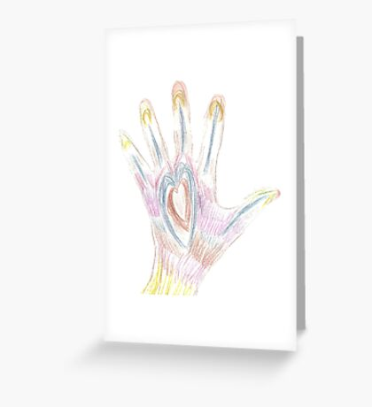 Heart Hand Greeting Card