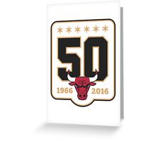 CHICAGO BULLS 50 ANNIVERSARY Greeting Card