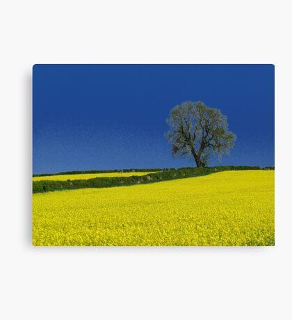Oak Tree Landscape ( Blue ) Canvas Print