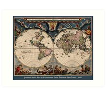 Willem Janszoon Blaeu Map of the World Art Print