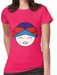 Smiling Red Blue Blangkon Womens Fitted T-Shirt