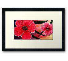 Pink Summer Flowers Framed Print