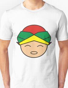 Smiling Red Green Yellow Blangkon Boy T-Shirt