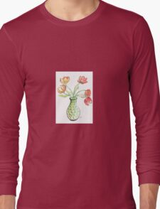 Tulips in a Vase Long Sleeve T-Shirt