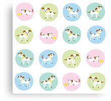 fun dog pattern Canvas Print