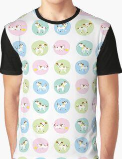 fun dog pattern Graphic T-Shirt