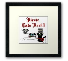 Pirate Cats Rock Framed Print
