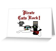 Pirate Cats Rock Greeting Card