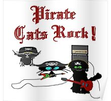 Pirate Cats Rock Poster