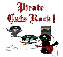 Pirate Cats Rock Photographic Print