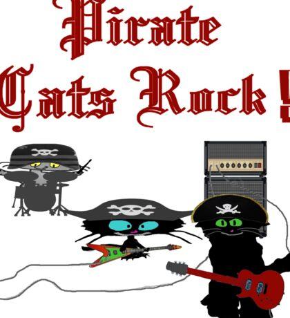 Pirate Cats Rock Sticker