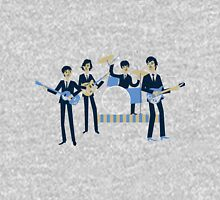 Sixties Style rock band playing music. Unisex T-Shirt