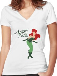 Made of Anger and Poison Women's Fitted V-Neck T-Shirt