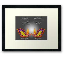 Happy Diwali Framed Print