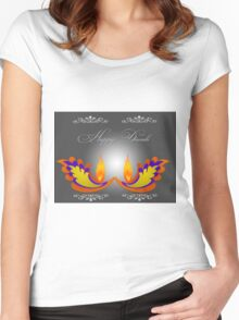 Happy Diwali Women's Fitted Scoop T-Shirt