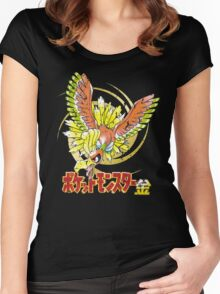 Pocket Monsters: Gold Distressed Women's Fitted Scoop T-Shirt