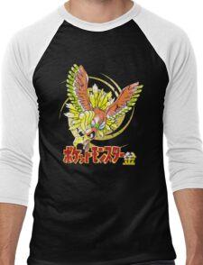 Pocket Monsters: Gold Distressed Men's Baseball ¾ T-Shirt