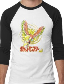 Pocket Monsters: Gold Distressed Men's Baseball ¾ T-Shirt