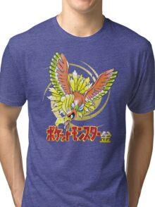 Pocket Monsters: Gold Distressed Tri-blend T-Shirt