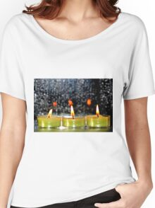 A row of candles Women's Relaxed Fit T-Shirt