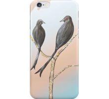 Black Drongos 3 iPhone Case/Skin