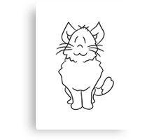 sweet cute kitten fluffy fur Canvas Print