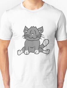 seated sweet cute kitten fluffy fur T-Shirt