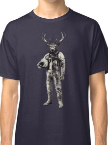 Psychedelic Deer Astronaut (Vintage Effect) Classic T-Shirt
