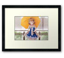 Koizumi Hanayo Smiling In The Rain Framed Print