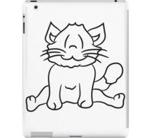 seated sweet cute kitten fluffy fur iPad Case/Skin