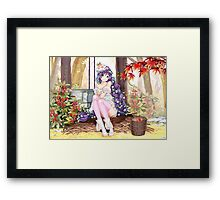 Toujou Nozomi By The Well Framed Print
