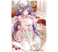 Kawaii Nozomi Toujou Cleaning The Floor Poster