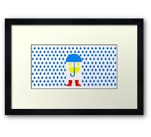 Face Goes for Walk in Rain Framed Print
