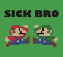 Sick Bro - Super Mario Bros. Kids Tee
