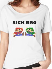 Sick Bro - Super Mario Bros. Women's Relaxed Fit T-Shirt