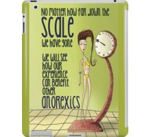 Anorexic Scale iPad Case/Skin