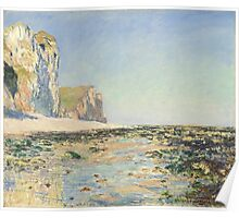 Claude Monet - Seashore and Cliffs of Pourville in the Morning (1882) Poster