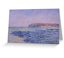 Claude Monet - Shadows on the Sea. The Cliffs at Pourville (1882) Greeting Card
