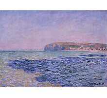 Claude Monet - Shadows on the Sea. The Cliffs at Pourville (1882) Photographic Print