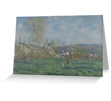 Claude Monet - Spring in Vethuil (1880)  Impressionism Greeting Card